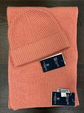 100% Cashmere Scarf & Hat Set   Johnstons of Elgin   Made in Scotland   Pink Set