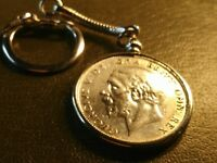 About Uncirculated Superb 1936 UK Silver Half-Crown  Quality Locking Keychain!