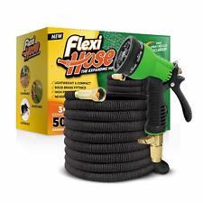 "Flexi Hose Upgraded Expandable Garden Hose, Extra Strength, 3/4"" Solid Brass Fit"