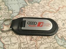 AUDI RS Key Ring Etched and infille On Leather