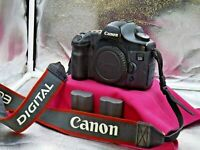 Canon EOS 5D DS126091 12.8MP Digital SLR Camera Body & 2 Batteries NO CHARGER