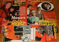 8 x A1 Filmplakate,KONVOLUT,SAMMLUNG,EDGAR WALLACE,HORROR,KRIMI