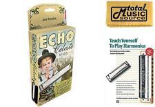Hohner 455 Echo Celeste Tremolo Tuned Harmonica Key of E, Includes Case & Book,