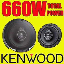 KENWOOD 660W TOTAL 3WAY 6.5 INCH 16.5cm CAR DOOR/SHELF COAXIAL SPEAKERS PAIR NEW
