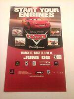 2006 Video Game Print Ad CARS - DISNEY PIXAR PC XBOX MAC PS2 PSP GAMECUBE GBA DS