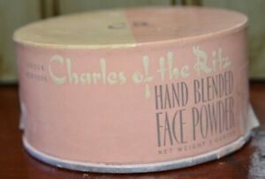 CHARLES OF THE RITZ 3 oz Hand Blended Face Powder 1960s Full Vintage Makeup New