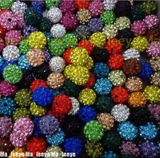 10mm Mix Micro Pave Disco Crystal Shamballa Beads Bracelet Spacer 500pcs/lot