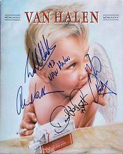 Van Halen  8 x 10 Autograph Reprint  David Lee Roth  Eddie  &  Alex Van Halen +1