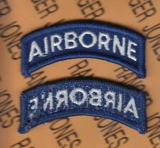 Us Army Airborne Tab Blue & White patch m/e