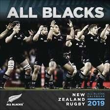 2019 CALENDARIO ALL BLACKS rugby Nuova Zelanda calendario da parete Sport