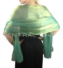 Emerald Green Silky Bridal Bridesmaid Wedding Prom Shawl Stole Wrap Pashmina