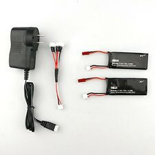 2PCS 7.4V 610mAh 15C Lipo Battery w/ Charger Set for Hubsan H502S RC Quadcopter