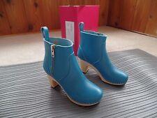 New Swedish Hasbeens Zip It Super High Boots 36 EU, 5 US $329 New Turquoise