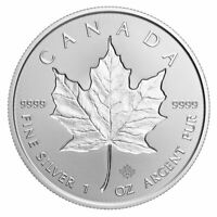 2019 Canada 1 oz Silver Maple Leaf Incuse $5 Coin GEM BU SKU57178