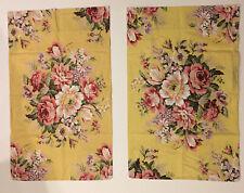 Set Of 2 Ralph Lauren Brooke Sophie Standard Pillowcase Yellow Pink Floral