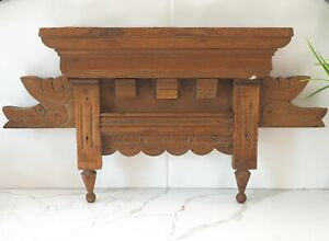 Salvaged Antique Eastlake walnut hand carved crest or crown top of mirror bed?