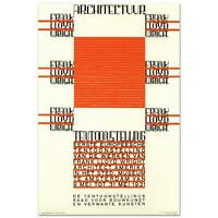 """Architectuur, F.L. Wright"" Hand Pulled Lithograph by the RE Society"