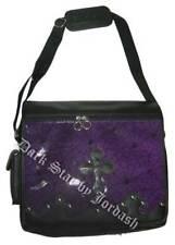 Dark Star Purple Gothic PVC Coffin Cross Messenger Bag Purse.