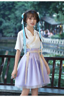 China Ancient Traditional Hanfu Women Fusion Modern Hanbok Top And Skirt Cosplay