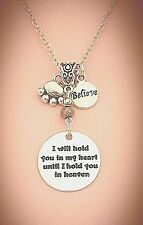 I Will Hold You in My Heart Silver-Tone Dog Memory Charm Necklace FREE SHIPPING!