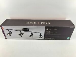 Allen + Roth Sparta 4-Light Decorative Track Light, Gunmetal Finish