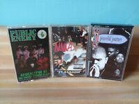 """Vintage 80s/90s Cassette Tapes lot N.W.A. """"NIGGAZ4LIFE"""" Public Enemy Heavy D.!!"""