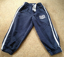 Boys Navy And White Joggers Size 4