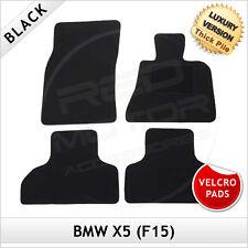 BMW X5 F15 2013 onwards Velcro Pads Tailored LUX 1300g Carpet Floor Mats BLACK