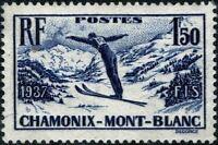 FRANCE 1937 CHAMONIX YT n° 334 neuf ★★ luxe / MNH