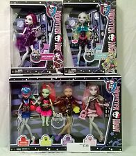 Monster High Ghouls Night Out complete 6 Doll Lot Ghoulis Venus Clawdeen Rochel