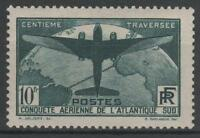 "FRANCE STAMP TIMBRE 321 "" TRAVERSEE ATLANTIQUE SUD 10F VERT "" NEUF xx TTB  N475"