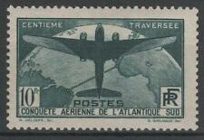 "FRANCE STAMP TIMBRE 321 "" TRAVERSEE ATLANTIQUE SUD 10F VERT "" NEUF xx TTB  N475"