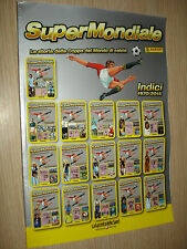 ALBUM PANINI SUPERMONDIALE STORIA DELLA COPPA DEL MONDO INDICI 1970 2014