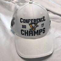 Reebok Pittsburgh Penguins NHL Cap Hat 2017 Conference Champs Adjustable New