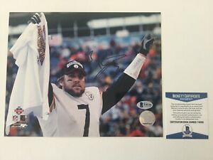 Ben Roethlisberger Signed Autographed 8x10 Steelers Photo Beckett BAS COA e