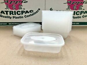 Heavy Duty Food Plastic Containers and Lids 500ml Recyclable Reuseable UK Made