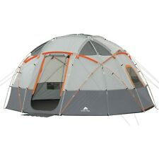 Ozark Trail 16' x 16' 12-Person Lighted Sphere Dome Tent Outdoors - Orange Grey