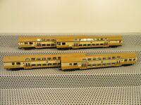 Piko Personenwagen Set Doppelstockwagen braun/beige 4 teilig ohne OVP M4