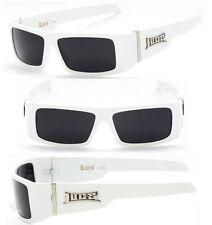 LOCS Motorcycle Biker Sport Cholo OG Style Mens Designer Sunglasses - White LC33