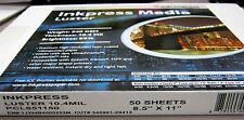 "Inkpress Media Photo Paper Luster 10.4 mil/240g 8.5"" x 11"" / 50 for Epson Canon"