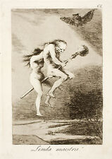 Goya Prints:The Witchcraft Caprichos Nos. 68, 69, 70 - Set 1: 3 Fine Art Prints