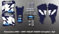 YAMAHA 1993-1995 YZ125 YZ250 WICKED TOUGH DECAL KIT LIKE NOS OEM GRAPHICS