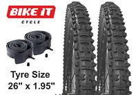 "MOUNTAIN BIKE TYRE 26"" x 1.95 - BICYCLE TYRES INNER TUBES, PAIRS & BUNDLED DEALS"