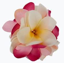 Hot Petals - Flower Hair Accessories - Frangipani Clip/Pin - Pink & Cream