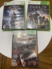 New ListingBatman Halo Reach Bulletstorm Xbox 360 Lot Cib Tested