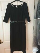 Jasper Conran Black Belted Dress - workwear size 28R
