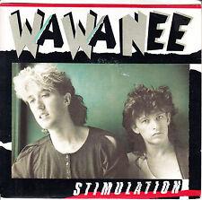 """WA WA NEE Stimulation PICTURE SLEEVE 7"""" 45 rpm record + juke box title strip"""