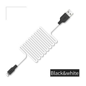 HOCO 25CM WHITE SILICONE FAST CHARGING USB SHORT CABLE FOR APPLE IPAD IPHONE £3