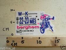 STICKER,DECAL BERGHEM WK 125CC GRANDPRIX MOTOCROSS MX 1993