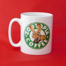 Zootopia judy hopps disney starbucks inspiré mug 10oz zootropolis
